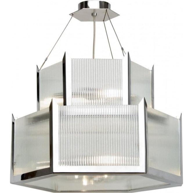 Art deco lighting authentic reproduction lights from 1920s 1930s hudson art deco chandelier 2 tier hexagonal ceiling light aloadofball Choice Image