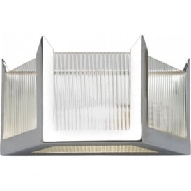 HUDSON chrome and glass Art Deco wall light (small)