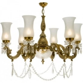MAHARAJA lavishly decorated chandelier with cut glass shades (large)