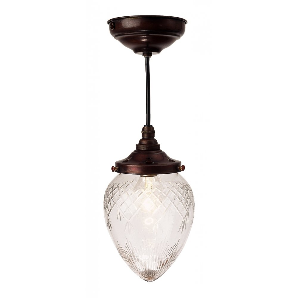 Small Victorian Or Edwardian Entrance Hall Light With Cut