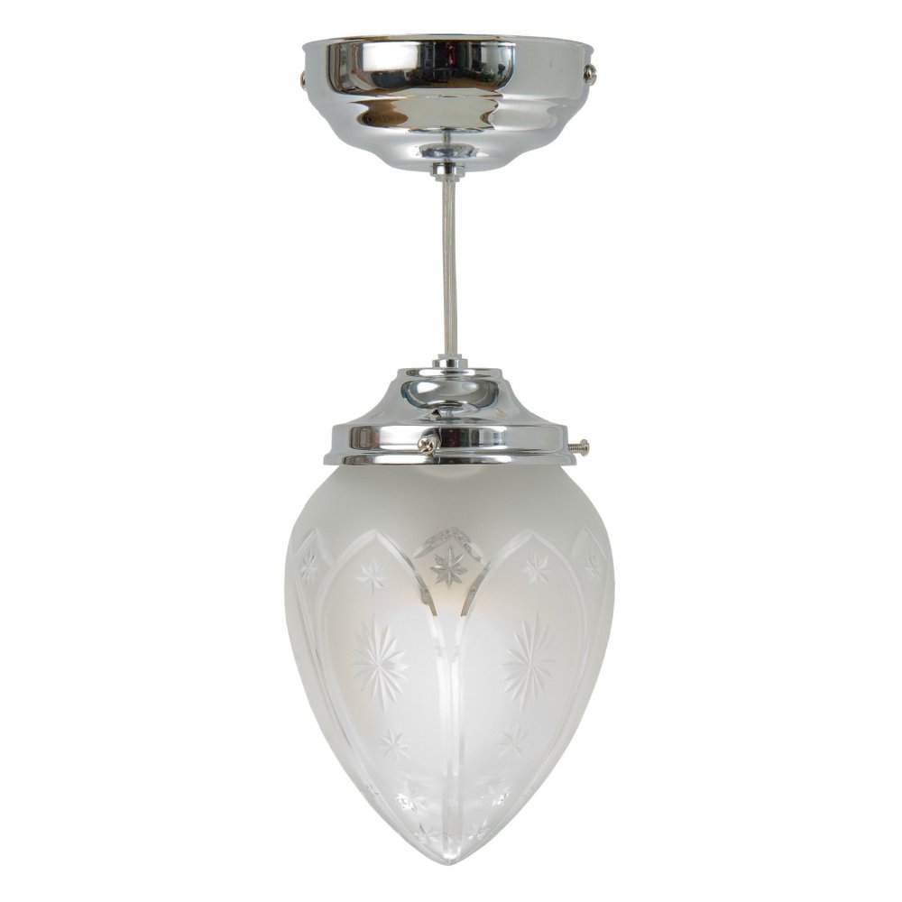 Art Deco Foyer Lighting : Small art deco style lantern in chrome with star pattern
