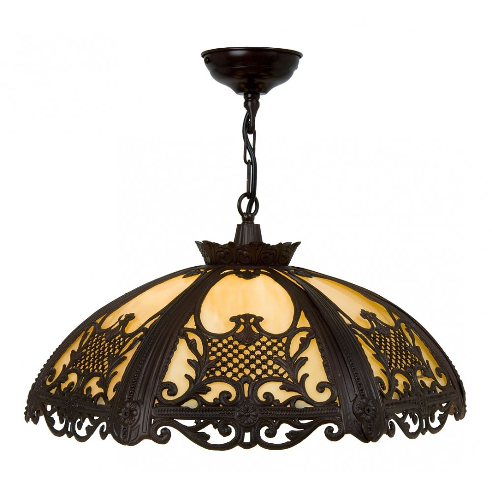 Antique Cast Metal Hanging Ceiling Pendant Light In