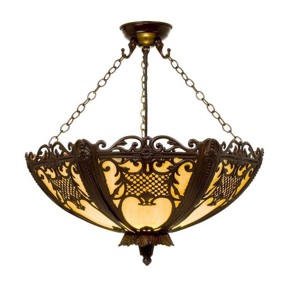 rococo uplighter ceiling pendant lavishly decorated with
