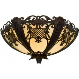 ROCOCO lavishly decorated cast metal wall light