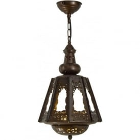 SOUK LANTERN exotic Moroccan or Middle Eastern inspired lantern