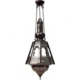 SOUK LANTERN Moroccan or Middle Eastern inspired antique filigree lantern