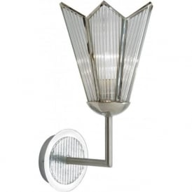 STAR Art Deco chrome and glass wall light