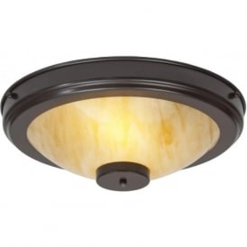 STRATTON Art Deco flush fitting low ceiling light (antique)