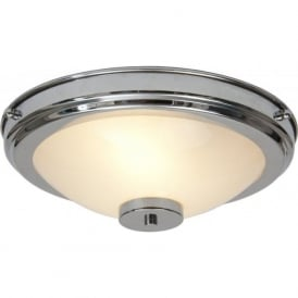 STRATTON Art Deco flush fitting low ceiling light (chrome)
