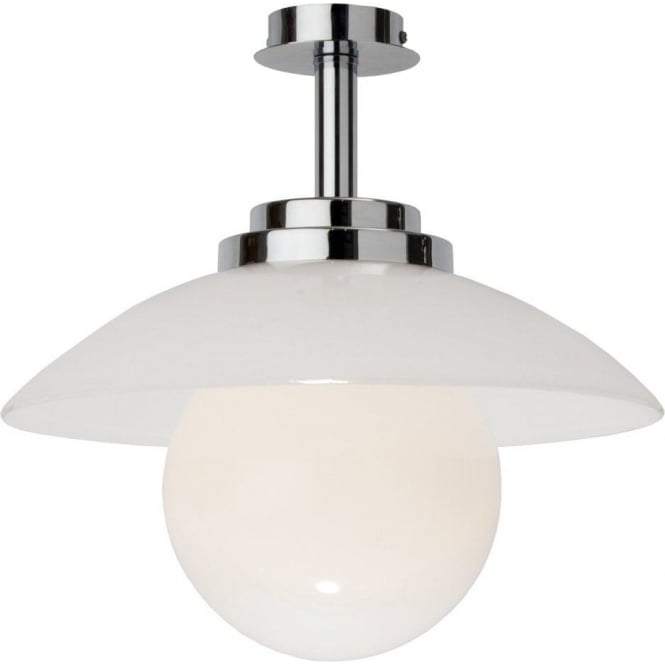 Chrome And Glass Art Deco Ceiling Light For Modern Or 1920 39 S Interiors