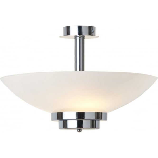 Uplighter art deco ceiling light opal glass shade on chrome fitting stratton semi flush art deco low ceiling light chrome aloadofball Choice Image
