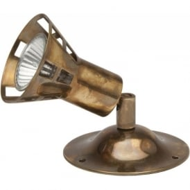 TRADITIONAL WALL SPOT surface mounted GU10 spotlight - aged brass