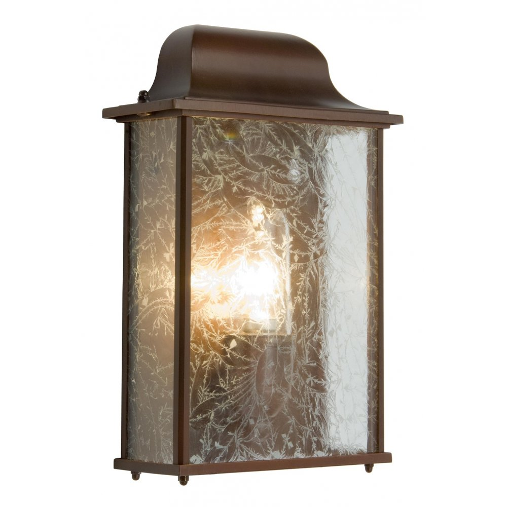 External Wall Lights Traditional : Victorian Flush Fitting Half Wall Lantern for Indoor or Outdoor Use