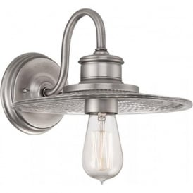 ADMIRAL nautical fisherman style wall light, antique nickel