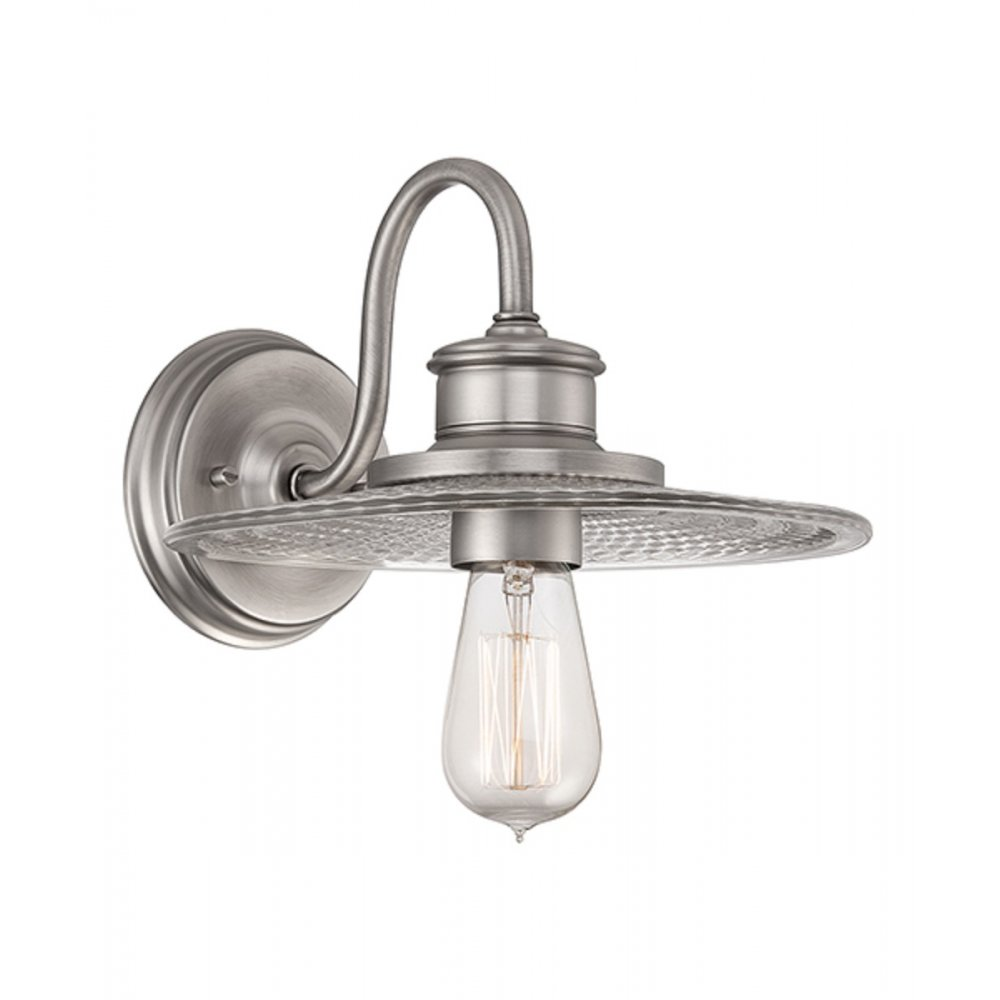 Vintage Warehouse Wall Lighting: Fisherman Style Wall Light In Antique Nickel With Vintage