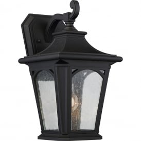 BEDFORD traditional black outdoor wall lantern for extreme weather conditions - medium
