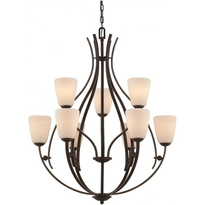Broadway American Collection CHANTILLY large bronze feature chandelier for high ceilings