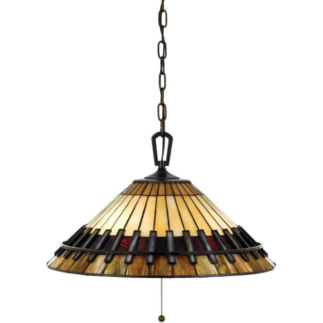 Broadway American Collection CHASTAIN Tiffany art glass ceiling pendant light