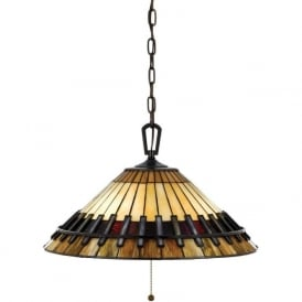CHASTAIN Tiffany art glass ceiling pendant light