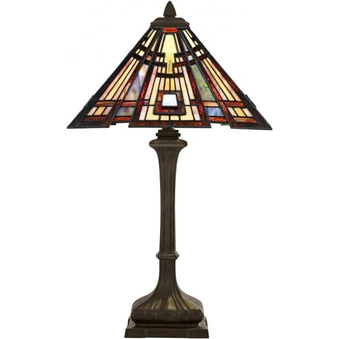 Broadway American Collection CLASSIC CRAFTSMAN Tiffany Art Deco geometric pattern table lamp
