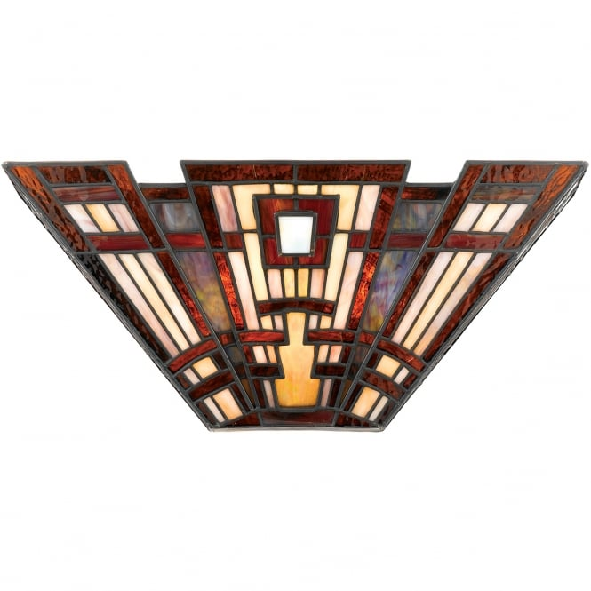 Broadway American Collection CLASSIC CRAFTSMAN Tiffany Art Deco geometric pattern wall light