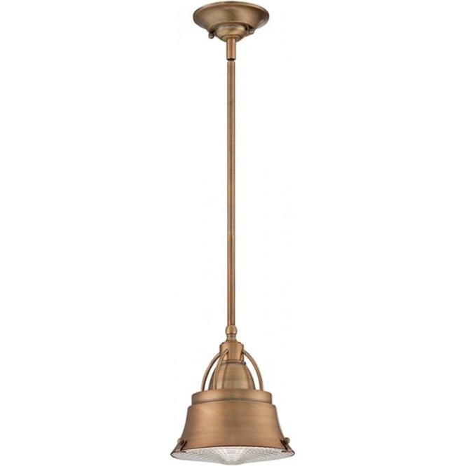 Broadway American Collection CODY industrial style mini ceiling pendant for sloping ceilings (copper)