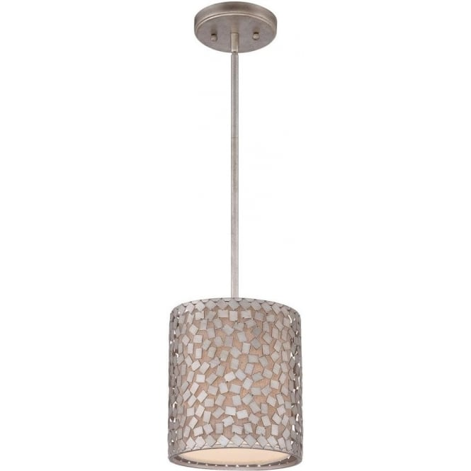 Broadway American Collection CONFETTI silver mosaic mini ceiling pendant light