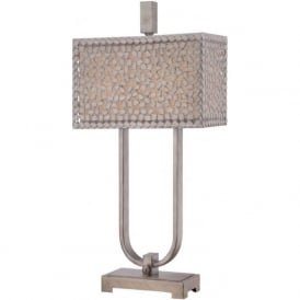 CONFETTI table lamp with silver mosaic patterned shade
