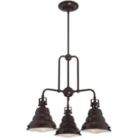 EASTVALE 3 light cluster ceiling pendant for sloping ceilings