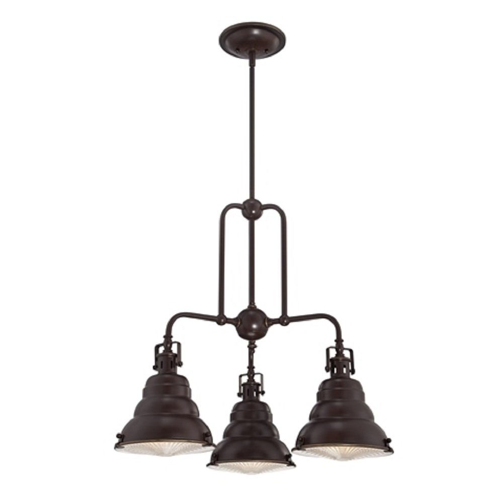 Hanging 3 light cluster pendant for fitting to sloping angled ceilings - Ceiling lights and chandeliers ...