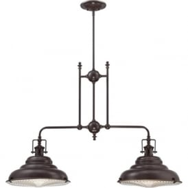 EASTVALE bronze kitchen island pendant for sloping ceilings