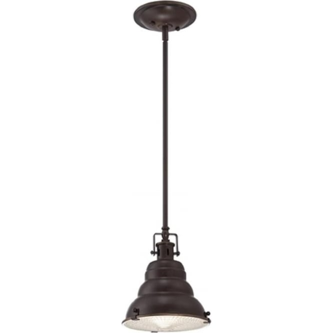 Broadway American Collection EASTVALE mini bronze vintage style ceiling pendant light
