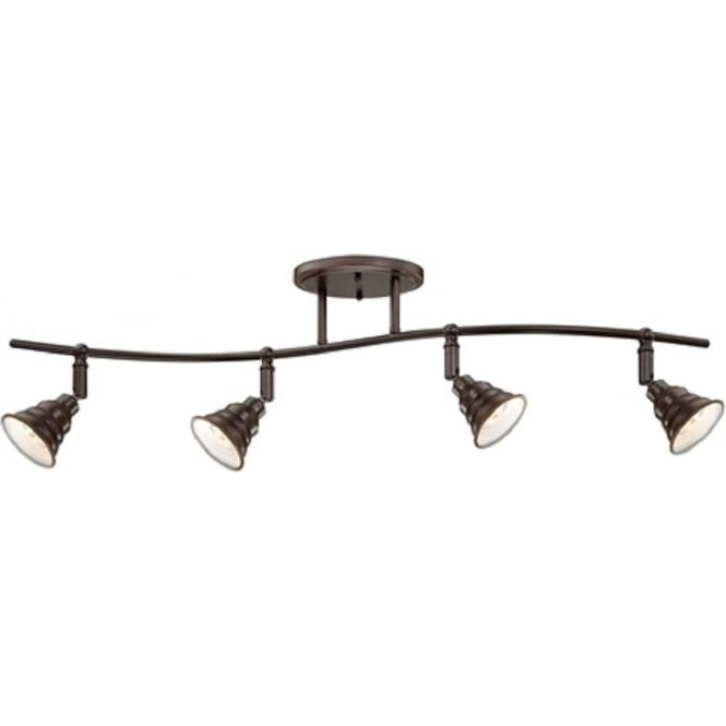 Broadway American Collection EASTVALE traditional bronze spotlight bar, ceiling track light