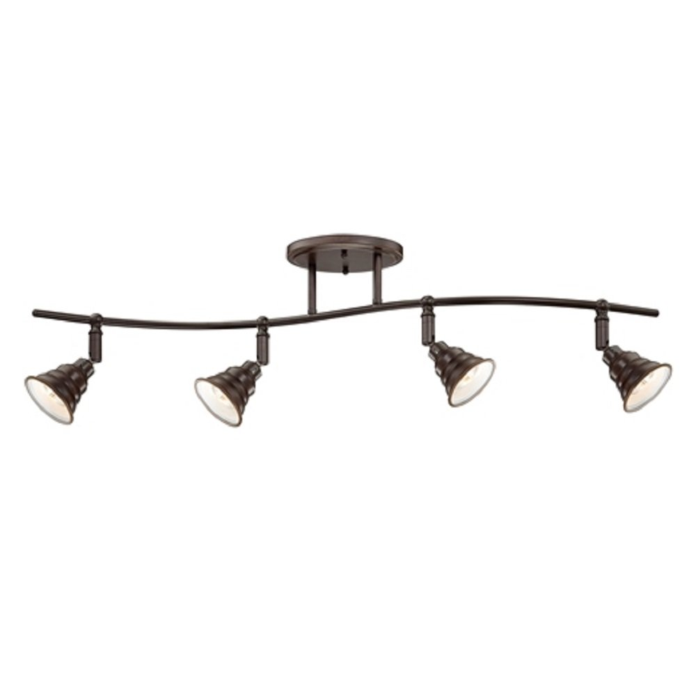 Dark Bronze Ceiling Spotlight Bar Or Track Light, 4