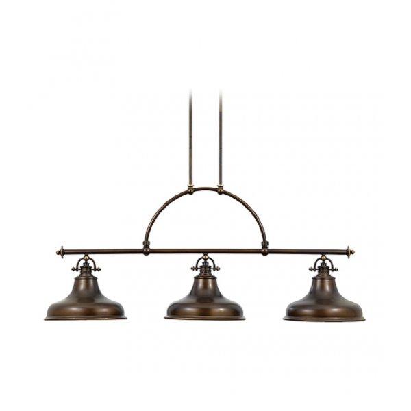 Bronze Factory Style Long Bar Ceiling Pendant Light For