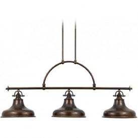 EMERY kitchen island suspended bar pendant light, bronze