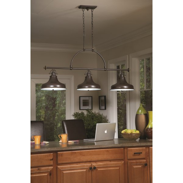 Bronze factory style long bar ceiling pendant light for for Bar fixtures