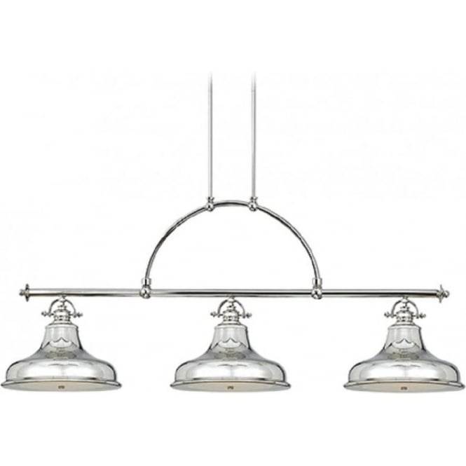 Kitchen Island Retro Bar Suspension Pendant With 3 Silver