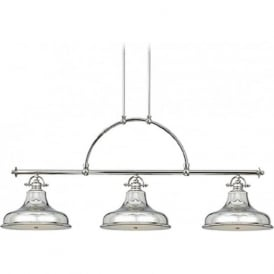 EMERY kitchen island suspended bar pendant light, silver