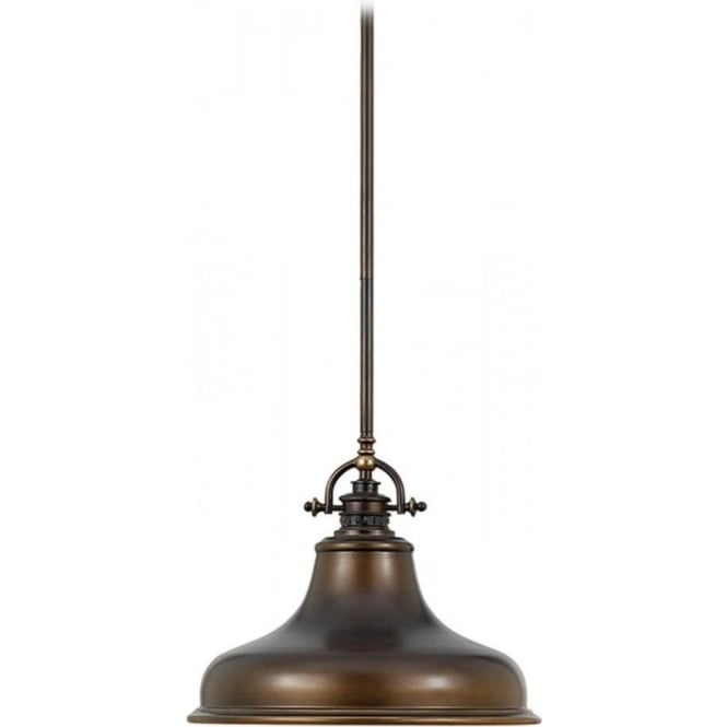 Bronze pendant light fitting can be used on angled and sloping ceilings emery retro style bronze ceiling pendant light for sloping ceilings aloadofball Choice Image