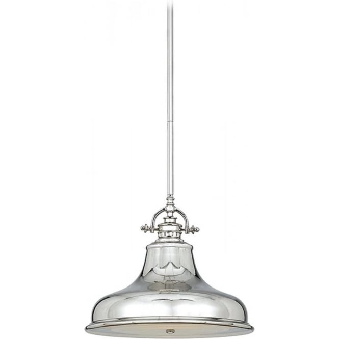 Broadway American Collection EMERY retro style silver ceiling pendant light for sloping ceilings