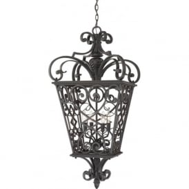 FORT QUINN decorative black cast aluminium indoor hall lantern