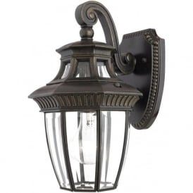 GEORGETOWN small traditional bronze garden wall lantern, IP44