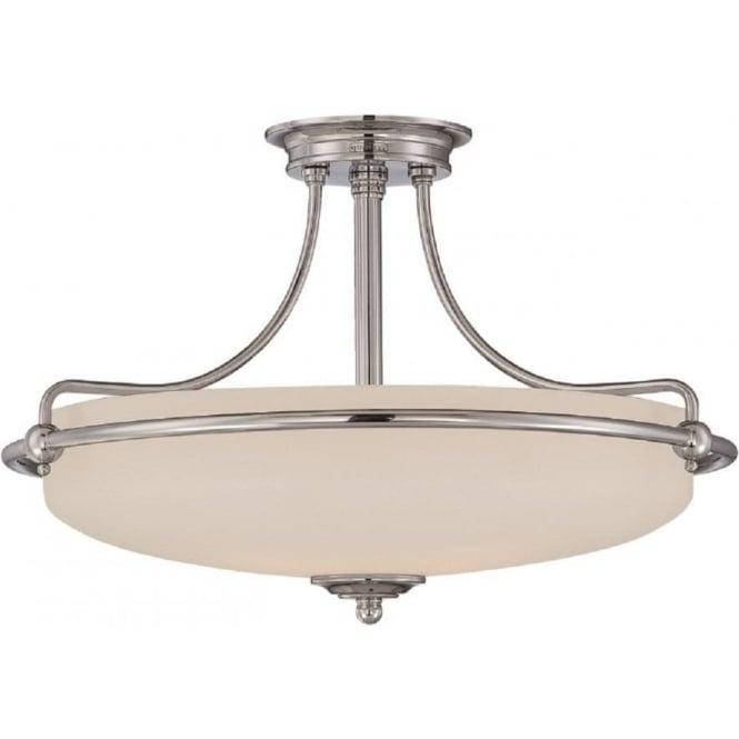 Art deco uplighter ceiling light for low ceilings griffin art deco chrome semi flush uplighter ceiling light medium mozeypictures Images