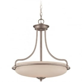 GRIFFIN Art Deco style ceiling pendant light - antique nickel