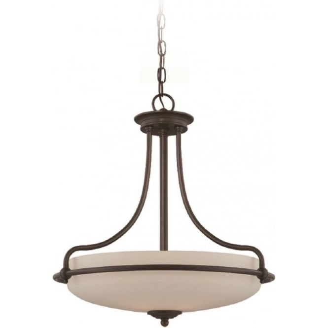 Broadway American Collection GRIFFIN Art Deco style ceiling pendant light - bronze