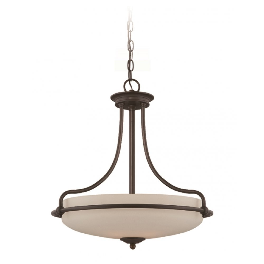 Art deco uplighter ceiling pendant light in bronze opal for Artistic pendant lights