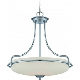 GRIFFIN Art Deco style ceiling pendant light - chrome