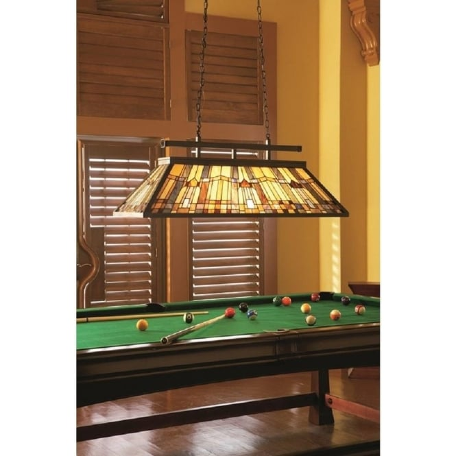 INGLENOOK Tiffany Kitchen Island Pendant Or Snooker Table Light