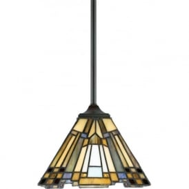 INGLENOOK Tiffany style Arts and Crafts mini ceiling pendant light